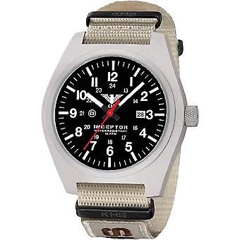 KHS mens watch interceptor steel KHS. INCS. NXTLT5