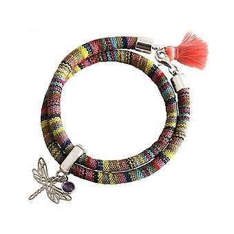 -Bracelet - bracelet - 925 Silver - Dragonfly - AZTEC - Amethyst - rose - violet