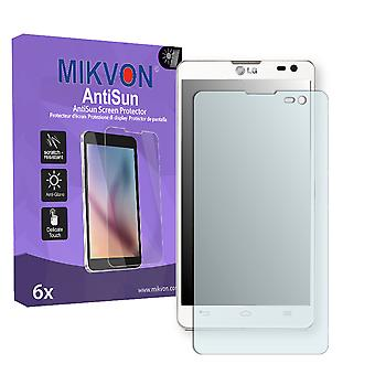 LG D605 Optimus L9 II Screen Protector - Mikvon AntiSun (Retail Package with accessories)