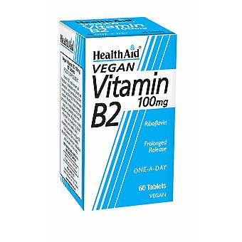 Health Aid Vitamin B2 (Riboflavin) 100mg - Prolonged Release, 60 Tablets