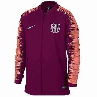 2018-2019 Barcelona Nike Anthem Jacket (Deep Maroon) - Kids