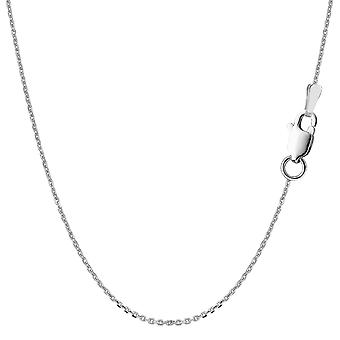 Sterling Silver Rhodium Plated Cable Chain Necklace, 1.1mm