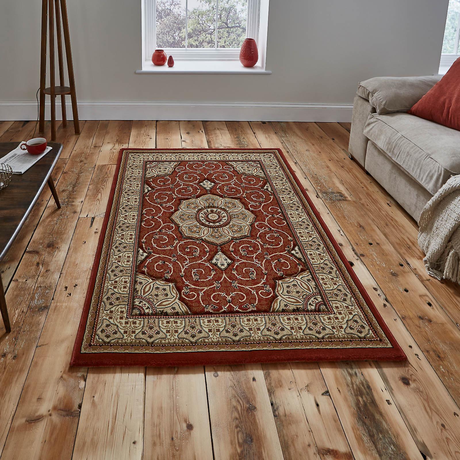 Patrimoine de tapis 4400 en terre cuite sombre