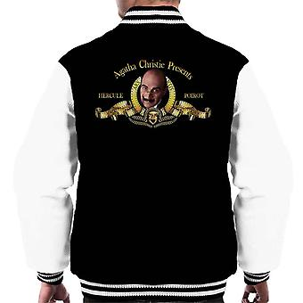 Agatha Christie Presents Hercule Poirot Metro Goldwyn Mayer Lion Men's Varsity Jacket