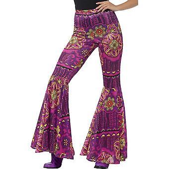Uitlopende broek, dames, p! NK, Woodstock psychedelische