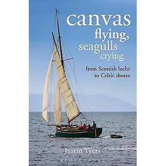 Flying - meeuwen huilen - doek van Schotse Lochs naar Celtic kusten