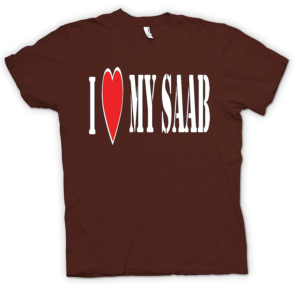 Mens T-shirt - I LoveMy Saab - Fun Car