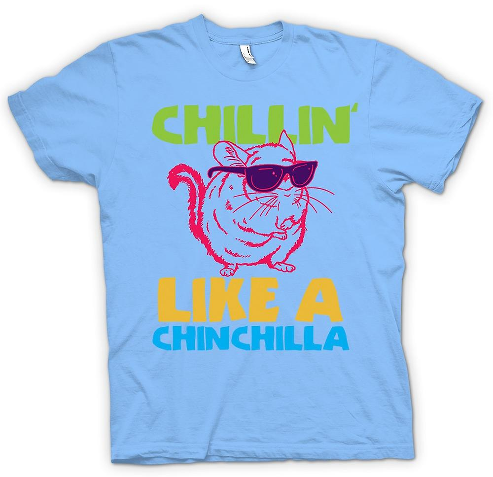 Mens T-shirt - Chillin Like A Chinchilla