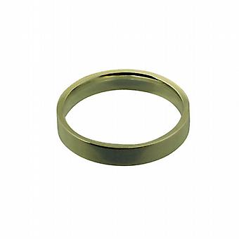 9ct Gold 4mm plain flat Court shaped Wedding Ring Size Q