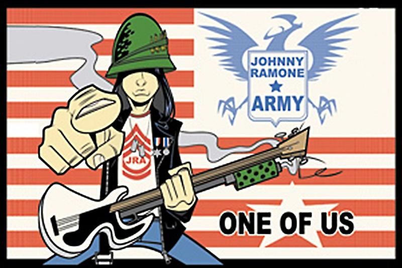 Johnny Ramone Army fridge magnet (cv)