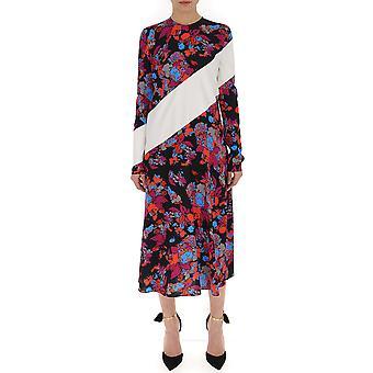 فستان حرير متعدد الألوان جيفنشي