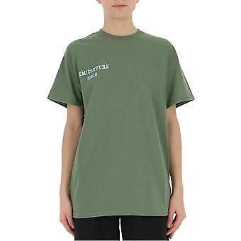 Semi-couture Caterina Green Cotton T-shirt