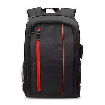 Spacious camera bag with Raincover, Red