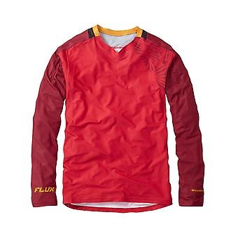 Madison True Red-Blood Red 2018 Flux Enduro Long Sleeved MTB Jersey