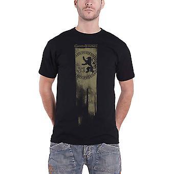 Spel van tronen T Shirt Lannister vlag horen Me Roar Logo nieuwe officiële Mens zwart