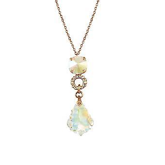 Eternal Collection Tresor Aurora Borealis Austrian Crystal Rose Gold Pendant Necklace