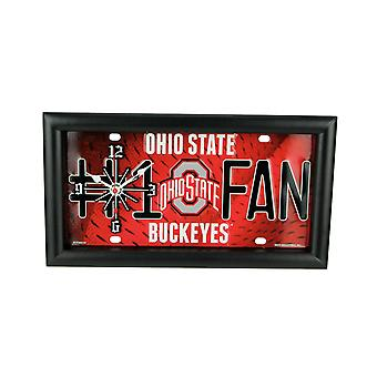 NCAA Ohio State Buckeyes Number 1 Fan License Plate Mantel or Wall Clock