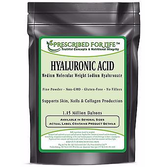 Hyaluronic Acid - Natural Food Grade Sodium Hyaluronate (HA) Powder - Medium Molecular Weight 1.15 mil Daltons