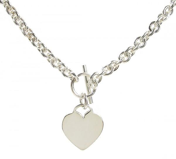 Cavendish Franse Sterling Zilver Heart Charm Necklace