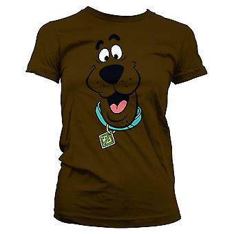 Women's Scooby Doo Face Fitted T-Shirt