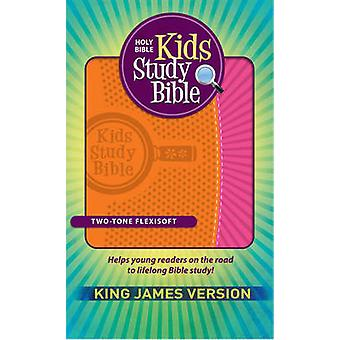 Kids Study Bible - King James Version (Flexisoft Leather - Orange/Pink