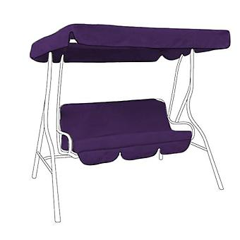 Gardenista® Purple Water Resistant Replacement Canopy & Seat Pad for 2 Seater Swing Seat