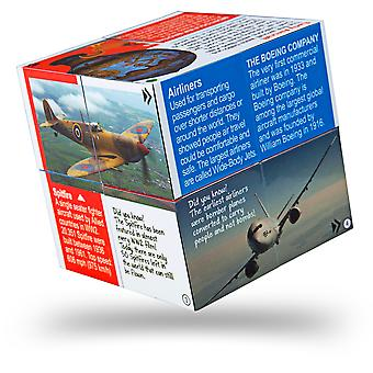 ZooBooKoo Educational Innovation in Aviation Cubebook - Fold-Out Cube