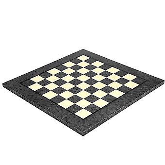 16.75 Inch Dark Grey Erable and Elm Wood Luxury Chess Board