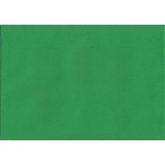 Holly Green Peel/tätning C4/A4 färgade gröna kuvert. 120gsm Luxury FSC-certifierat papper. 229 mm x 324 mm. plånbok stil kuvert.