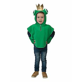 Frog King Children's Costume Frogcape Crown Costume Kids Cape Carnival Fairytale