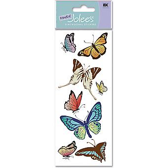 Touch Of Jolee's Dimensional Sticker Butterflies Spjj 162