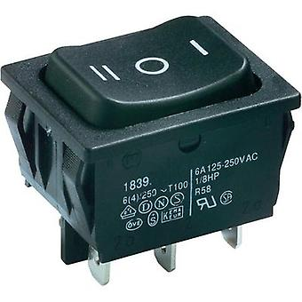 Toggle switch 250 Vac 6 A 2 x On/Off/On Marquardt