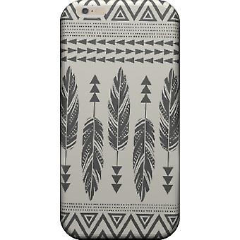 Tribal cover-veren-zwart voor iPhone 6/6S