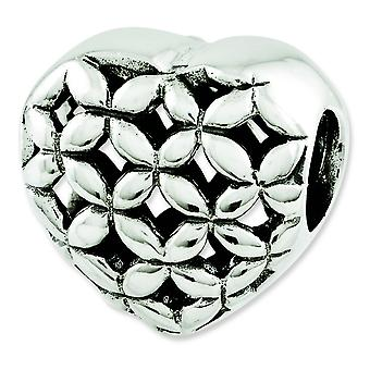 Sterling Silver Reflections Heart Bead Charm