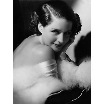 Norma Shearer Mgm Portrait Ca 1934 Photo Print