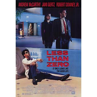 Less Than Zero Movie Poster Print (27 x 40)