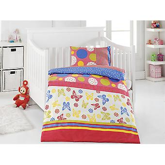OPTIDREAM renforcé Kids bedding BUTTERFLIES stained 100 x 135 cm