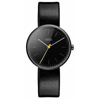 Braun Womans Slim Black Leather Strap BN0172BKBKL Watch