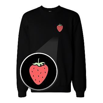 Strawberry Pocket Print Sweatshirt Back To School Unisex Sweat Shirt