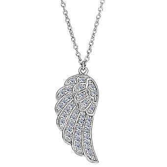 Sterling Silver Angel vleugel hanger CZ Fashion ketting, 18