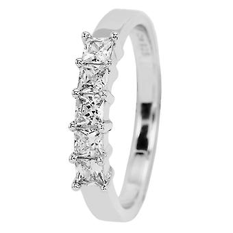 Carlo Monti women's ring JCM2008-131, 925 sterling silver rhodanized, white zirconia