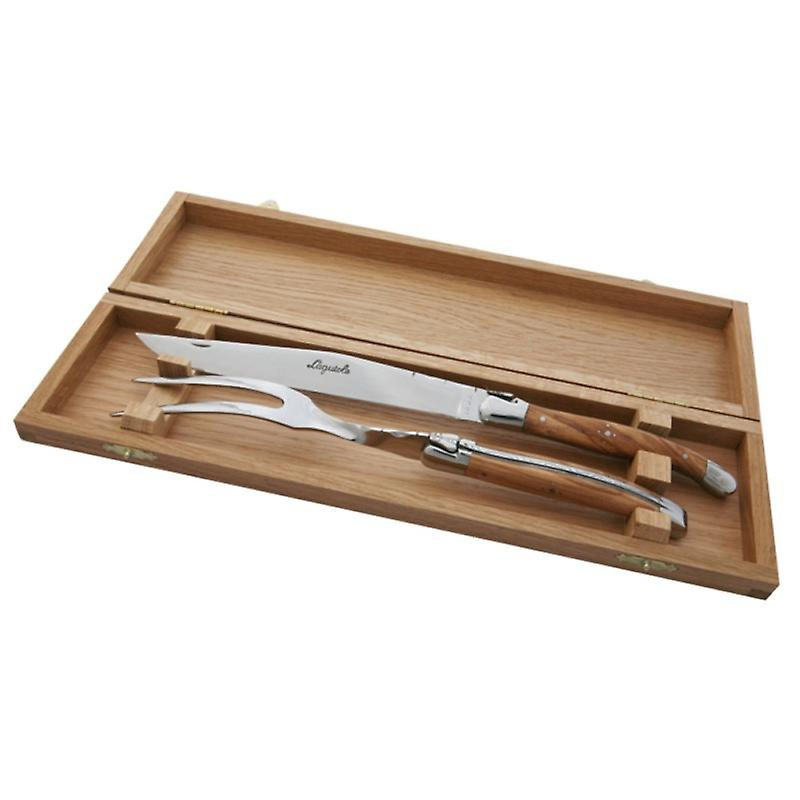 Laguiole Carving Set Olive wood Handle Direct from France