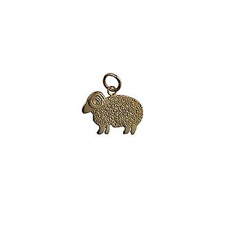 9ct Gold 20x14mm Sheep Pendant or Charm