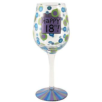 Our Name is Mud 18th Birthday Wine Glass