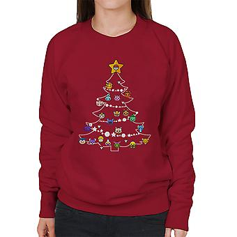 Pokemon Bulbs Christmas Tree Women's Sweatshirt