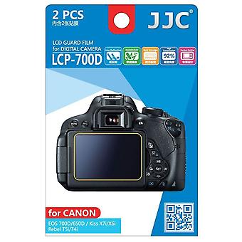 JJC Guard Film Crystal Clear Screen Protector for Canon EOS 650D, 700D / Rebel T4i, T5i - no cutting (2 Film Pack)