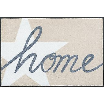 wash + dry home star mat 50 x 75 cm washable floor mat