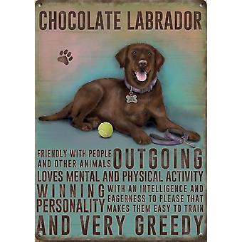 Medium Wall Plaque 200mm x 150mm - Chocolate Labrador