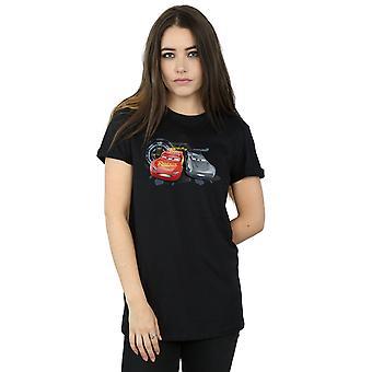 Disney Women's Cars Lightning Vs Storm Boyfriend Fit T-Shirt