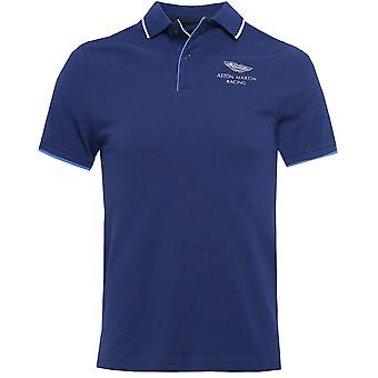 Hackett Slim Fit Piped Placket AMR Polo Shirt